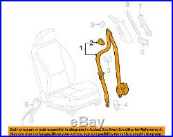 Pontiac GM OEM 05-07 G6 Front Seat Belt Buckle-Retractor Assy Right 89025876