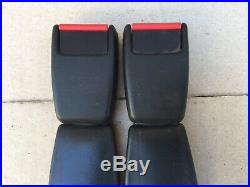Porsche 911 964 993 944 Turbo Rear Seat Belt Buckle Reciever Set