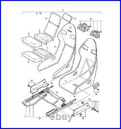 Porsche 911 996 GT2 GT3 seat belt block buckle bucket 99652192790 99652192590
