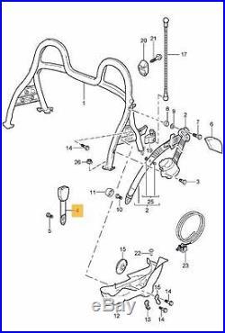 Porsche Genuine 911, Boxster Seat Belt Buckle Passenger Side OEM
