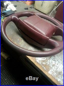 Private list steering wheel, front floor mats, 1 seat belt buckle burgundy RMW