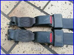 @RARE@ SET rear BLACK seat belt buckle belts edm OEM Honda CRX EE8 EF8 ED9 88-91