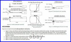 RETRACTABLE SEAT BELT 90-90 ON PILLAR STALK BUCKLES SEAT OR TUNNEL MOUNTED 400mm