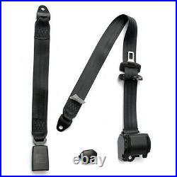Red 3 Point Retractable Car Seat Belt Automatic Safety Strap Buckle AdjustableX2