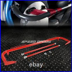 Red 49stainless Steel Chassis Harness Bar+black 4-pt Strap Buckle Seat Belt