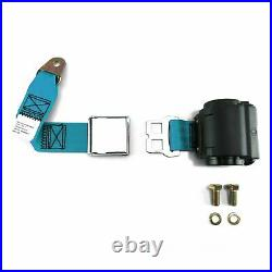 Retro Blue Airplane Buckle 4 Seat Belt Kit rod truck v8 hot