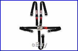STR 2 NINJA 5-Point SFI Approved Racing Harness Seat Belt Nascar Buckle BLACK