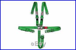 STR 2 NINJA 5-Point SFI Approved Racing Harness Seat Belt Nascar Buckle GREEN