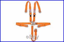 STR 2 NINJA 5-Point SFI Approved Racing Harness Seat Belt Nascar Buckle ORANGE