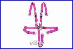 STR 2 NINJA 5 Point SFI Approved Racing Harness Seat Belt Nascar Buckle PINK