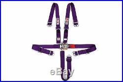 STR 2 NINJA 5 Point SFI Approved Racing Harness Seat Belt Nascar Buckle PURPLE