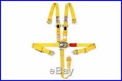 STR 2 NINJA 5 Point SFI Approved Racing Harness Seat Belt Nascar Buckle YELLOW