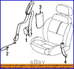 Saturn GM OEM 97-98 SC1 Front Seat Belt Buckle-Retractor Assy Left 21305493