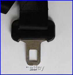 Seat Belt Extension (25mm 1 Inch Clip Tongue) Extender Car Vehicle Strap Buckle