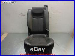 Seat Rear Mid Partially Leather Fold-up Belt Buckle Black RENAULT ESPACE IV