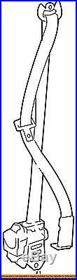 TOYOTA OEM 08-10 Highlander Front Seat-Belt & Buckle Retractor Left 7322048150A0