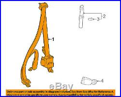 TOYOTA OEM 1996 RAV4 Front Seat-Belt & Buckle Retractor Right 7321042090B0
