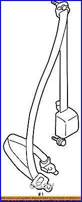 TOYOTA OEM 2004 Tacoma Front Seat-Belt & Buckle Retractor Left 7322004141B0