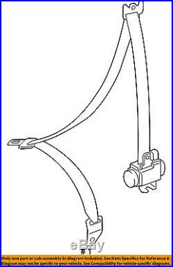 TOYOTA OEM 2016 Tacoma Front Seat-Belt & Buckle Retractor Left 7322004260C1