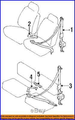TOYOTA OEM 89-91 Pickup Front Seat-Belt & Buckle Retractor Left 732208915003