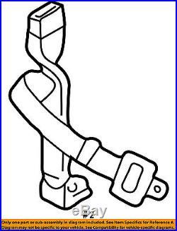 TOYOTA OEM 95-97 Tacoma Front Seat Belt-Buckle Left 7324004050B0