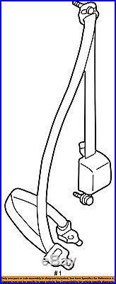 TOYOTA OEM 95-97 Tacoma Front Seat-Belt & Buckle Retractor Left 7322004030B0