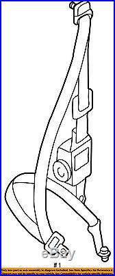 TOYOTA OEM 95-97 Tacoma Rear Seat Belt-Belt & Buckle Retractor Left 7337035090B0