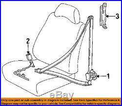 TOYOTA OEM 96-97 Corolla Front Seat Belt-Buckle Left 7324002012B0
