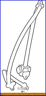 TOYOTA OEM 99-02 4Runner Front Seat-Belt & Buckle Retractor Right 7321035601E0