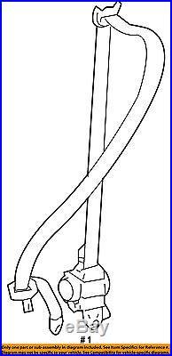 TOYOTA OEM Front Seat-Belt & Buckle Retractor Right 7321060651C0