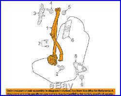 TOYOTA OEM Highlander Front Seat-Belt & Buckle Retractor Right 732100E070B0