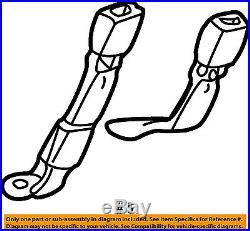 Tahoe Yukon Suburban Gray Middle Seat Belt Buckle 2000-2002 New Oem 88955912