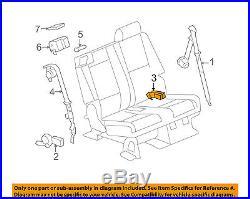Tahoe Yukon Suburban Tan Drivers Side Rear Seat Belt Buckle 2007-2014 19121591