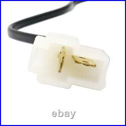 Universal Front Seat Belt Buckle Socket Plug Connector & Warning Cable 45 steel