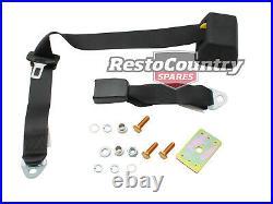 Universal Inertia Seat Belt Top Rear Parcel Shelf Mount 275mm Fixed Webb Buckle