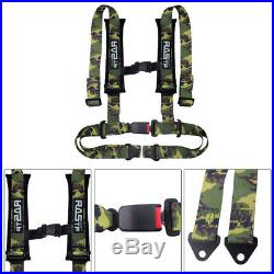 Universal Vehicle Racing 4 Point Auto Car Safety Seat Belt Buckle Harness RASTP