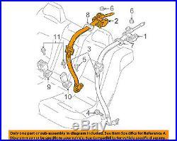 VOLVO OEM 05-07 V70 Rear Seat Belt-Belt & Buckle Retractor 6841676