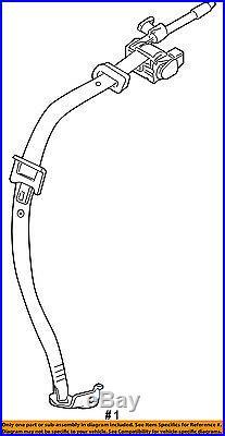 VOLVO OEM 12-13 C30 Rear Seat Belt-Belt & Buckle Retractor Right 31351440