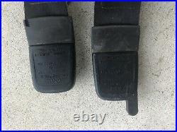 VW Corrado Front Right Left Passenger Driver LH RH Seat Belt Buckles Black