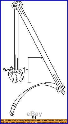 VW VOLKSWAGEN OEM Golf Front Seat Belt Buckle-Retractor Assy Right 5GM857706DRAA