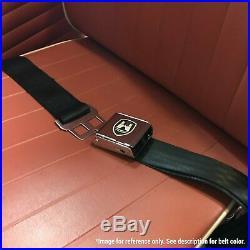 VW Volkswagen Wolfsburg Black Lap Seat Belt Buckle fits Bug Bus Ghia Set of Four