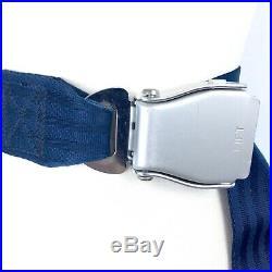 Vintage 90s Airplane Seat Belt blue silver belt buckle grunge steam punk gift