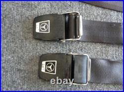 Vintage W111 Mercedes Benz Oem Seat Belt Buckles Lapbelt Set