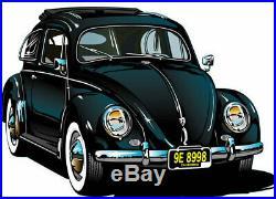 Vw Wolfsburg 2 Point Chrome Buckle Black Lap Seat Belt Set Type 123 Bug Bus Ghia